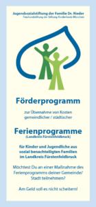 Broschüre Ferienprogramm